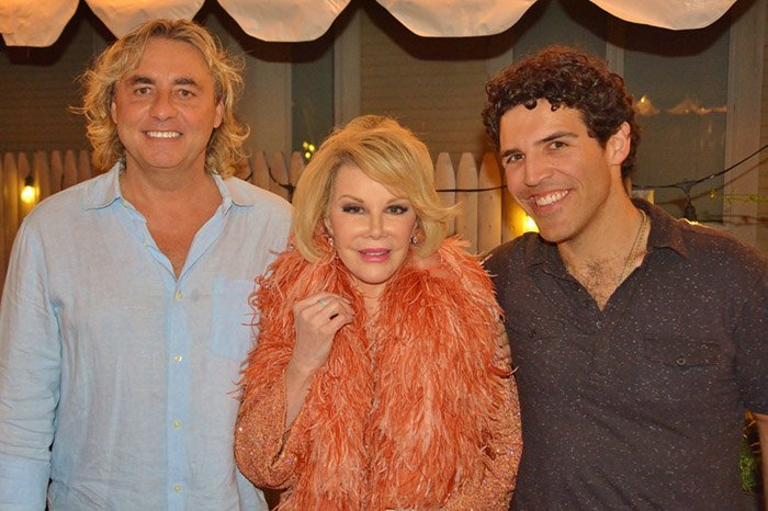 Shawn Nightingale, Joan Rivers, Brandon Cordiero (photo: Dan McKeon)
