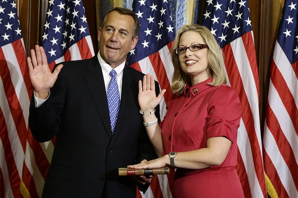 John Boehner and Kyrsten Sinema