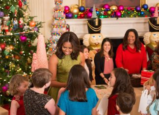Bryan Rafanelli,First Lady Michelle Obama,White House,Christmas