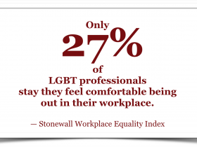 27% of LGBT workers feel comfortable being out in their workplace
