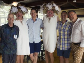 The Hat Sisters and friends at Community Research Initiative's 2015 Summer Party in Provincetown. The 2016 party returns to The Red Inn on Saturday, July 23. Photo by Stephanie Visciglia