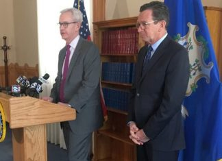 Connecticut Supreme Court Justice Andrew McDonald and Governor Dannel Malloy