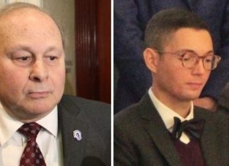 Former Massachusetts Senate President Stanley Rosenberg and husband Bryon Hefner